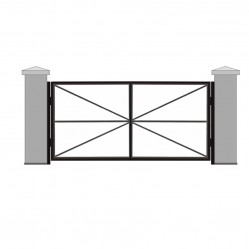 Ворота распашные без обшивки 3250х2000 мм