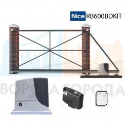 Ворота откатные 5250х2250 мм с электроприводом Nice RB600BDKIT