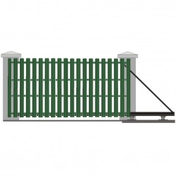 Ворота откатные с евроштакетником 4500х2000 мм