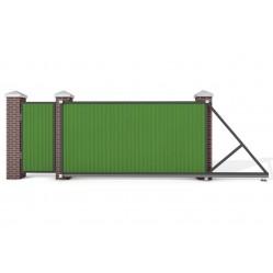 Ворота откатные с калиткой 5000х2250 мм