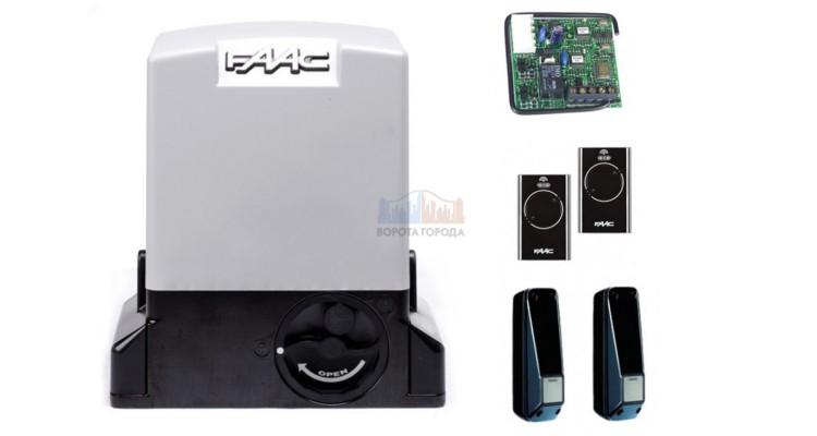 FAAC 740 KIT SLH, 2х канальный радиоприемник, комплект автоматики для откатных ворот