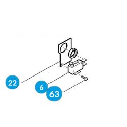 CAME Микровыключатель дверцы разблокировки G4040 G4041 119RIG175