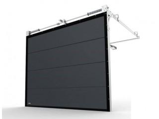Как монтируются панорамные промышленные секционные ворота