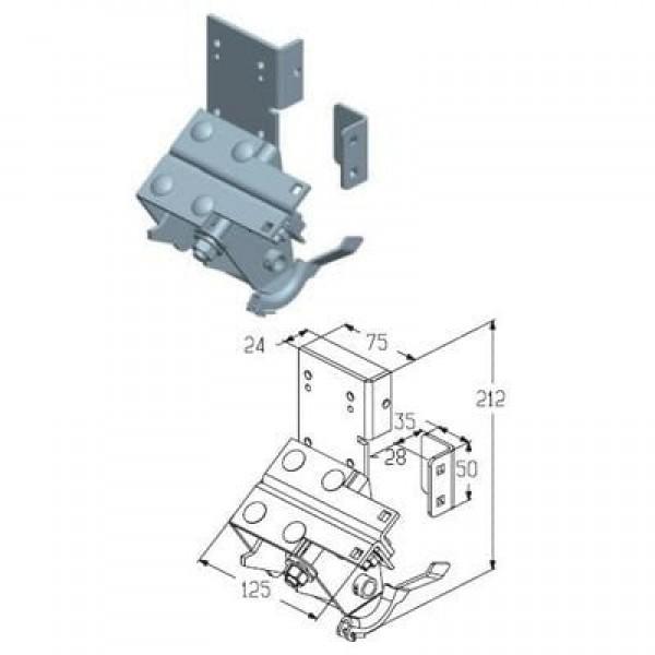 Alutech Кронштейн нижний RBI446MR